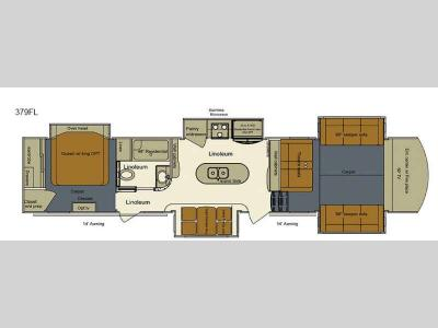 Floorplan - 2016 EverGreen RV Bay Hill 379FL