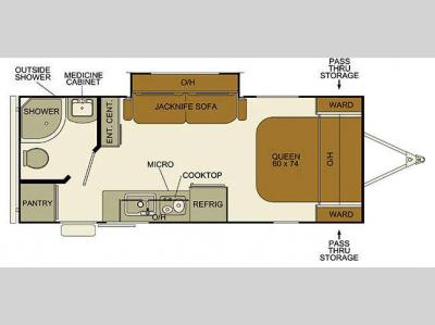 Floorplan - 2016 EverGreen RV Ascend Cloud Series C184RB