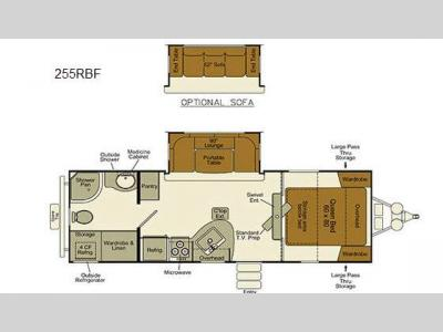 Floorplan - 2016 EverGreen RV Ever-Lite 255RBF