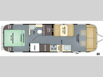 Floorplan - 2016 Airstream RV Classic 30
