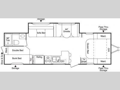 Floorplan - 2007 Keystone RV Zeppelin ZII Z 291