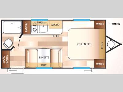 Floorplan - 2016 Forest River RV EVO FS T195RB