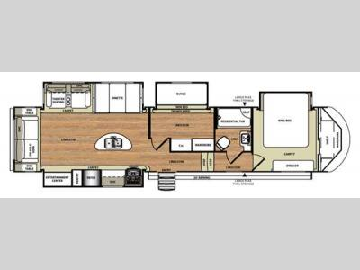 Floorplan - 2016 Forest River RV Wildwood Heritage Glen 368RLBHK
