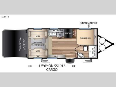 Floorplan - 2016 Forest River RV Stealth SS1913