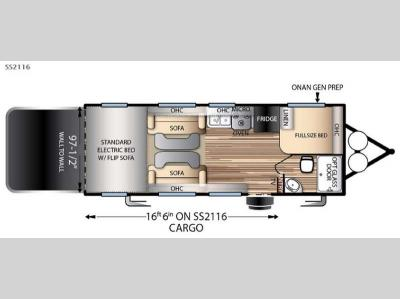Floorplan - 2016 Forest River RV Stealth SS2116