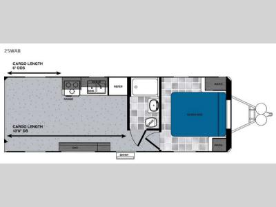 Floorplan - 2016 Forest River RV Work and Play 25WAB