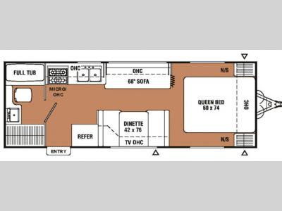 Floorplan - 2007 Coachmen RV Spirit of America 24 RBQ