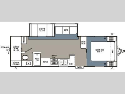 Floorplan - 2007 Coachmen RV Spirit of America 28BHS
