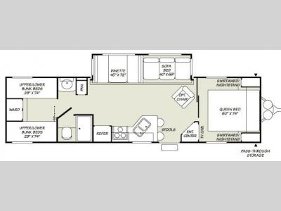 Floorplan - 2007 Fleetwood RV Wilderness Scout 320DBHS
