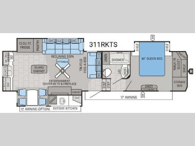 Floorplan - 2016 Jayco North Point 311RKTS