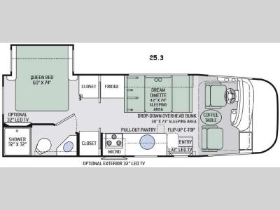 Floorplan - 2016 Thor Motor Coach Axis 25.3