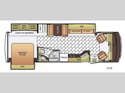 Floorplan - 2016 Newmar Bay Star 3124