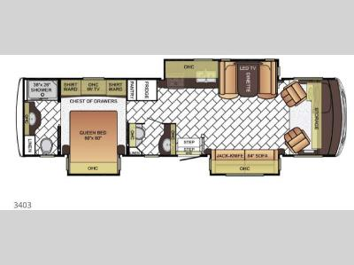 Floorplan - 2016 Newmar Bay Star 3403