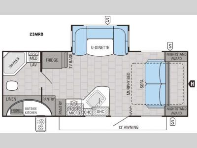Floorplan - 2016 Jayco White Hawk 23MRB