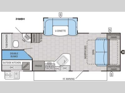 Floorplan - 2016 Jayco White Hawk 24MBH