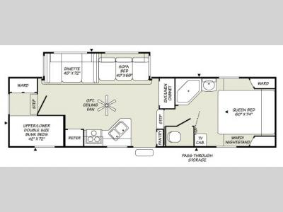 Floorplan - 2007 Fleetwood RV Wilderness 2952BS