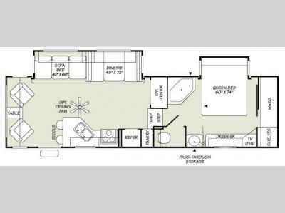 Floorplan - 2007 Fleetwood RV Wilderness 305RLDS
