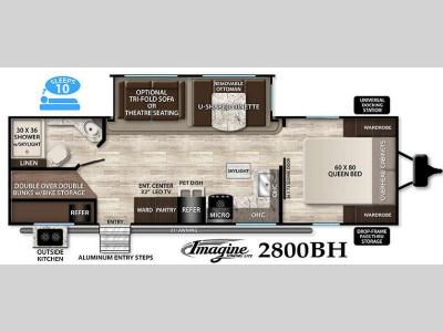Floorplan - 2016 Grand Design Imagine 2800BH
