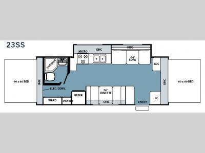 Floorplan - 2006 Forest River RV Rockwood Roo 23 SS