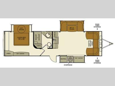 Floorplan - 2016 EverGreen RV Element 30FLS