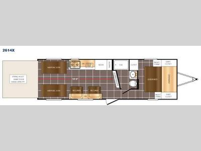 Floorplan - 2016 Prime Time RV Fury 2614X