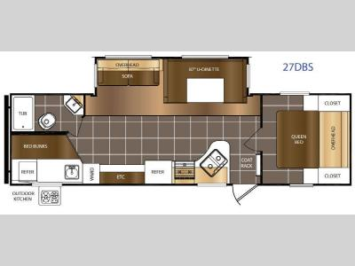 Floorplan - 2016 Prime Time RV Avenger ATI 27DBS