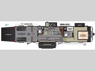 Floorplan - 2016 Keystone RV Impact 361