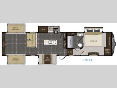 Floorplan - 2016 Keystone RV Avalanche 370RD