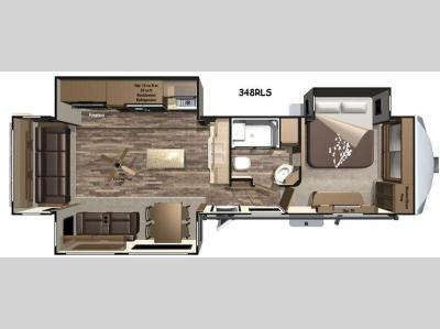 Floorplan - 2016 Highland Ridge RV Open Range Roamer RF348RLS