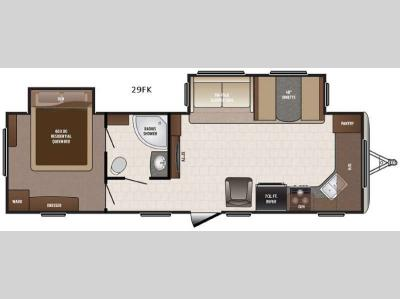 Floorplan - 2016 Keystone RV Sprinter Campfire Edition 29FK