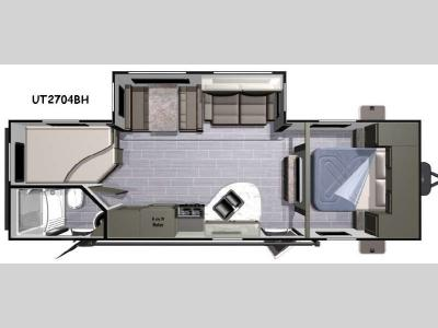 Floorplan - 2016 Highland Ridge RV Open Range Ultra Lite UT2704BH
