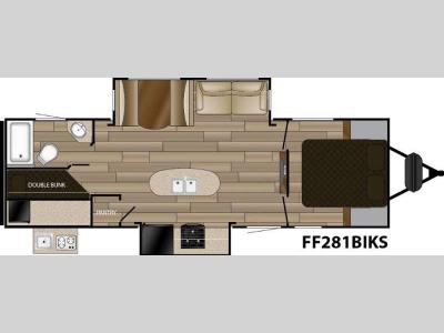 Floorplan - 2016 Cruiser Signature Edition F-281BIKS