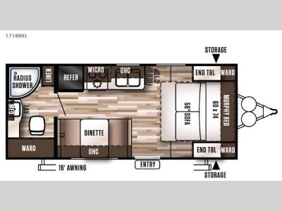 Floorplan - 2016 Forest River RV Wildwood X-Lite 171RBLXL