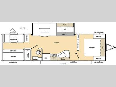 Floorplan - 2016 Coachmen RV Catalina SBX 291QBS