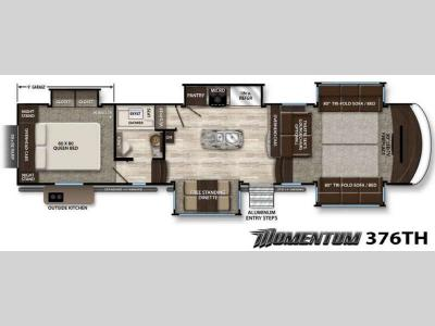 Floorplan - 2016 Grand Design Momentum 376TH