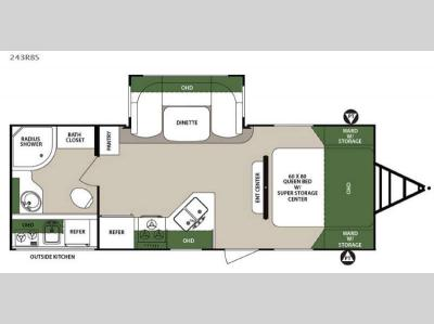 Floorplan - 2016 Forest River RV Surveyor 243RBS