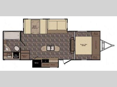 Floorplan - 2016 CrossRoads RV Sunset Trail Grand Reserve ST26RB