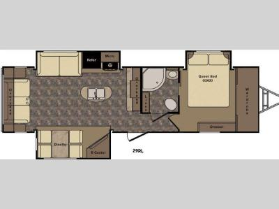 Floorplan - 2016 CrossRoads RV Sunset Trail Grand Reserve ST29RL
