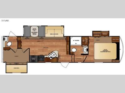 Floorplan - 2016 Forest River RV Wildcat 31SAX