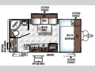 Floorplan - 2016 Forest River RV Rockwood Mini Lite 1909S