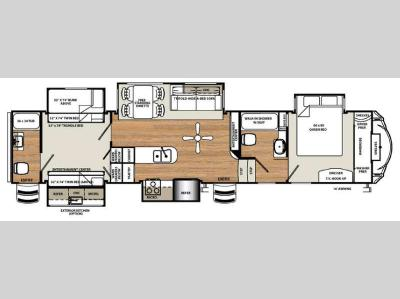 Floorplan - 2016 Forest River RV Sandpiper 381RBOK