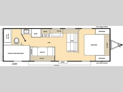 Floorplan - 2016 Coachmen RV Catalina SBX 261BH