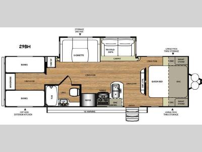 Floorplan - 2016 Forest River RV Salem Hemisphere Hyper-Lite 29BH