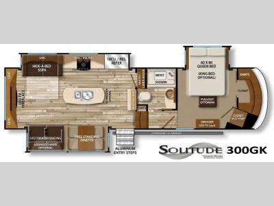 Floorplan - 2016 Grand Design Solitude 300GK