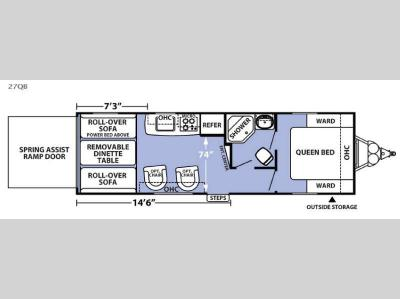 Floorplan - 2016 Forest River RV XLR Boost 27QB