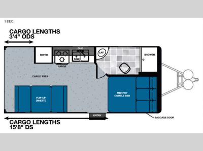 Floorplan - 2016 Forest River RV Work and Play FRP Series 18EC