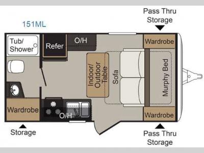 Floorplan - 2016 Keystone RV Passport 151ML Express