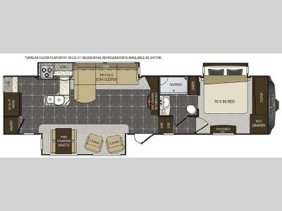 Floorplan - 2016 Keystone RV Alpine 3470RK