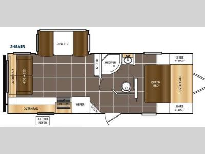 Floorplan - 2016 Prime Time RV Tracer Air 248AIR