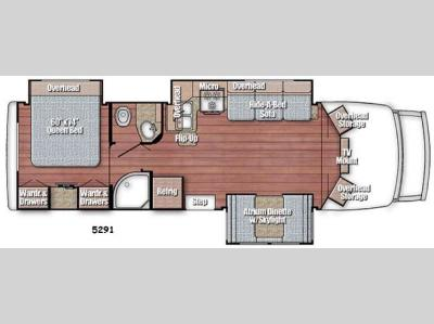 Floorplan - 2016 Gulf Stream RV BT Cruiser 5291